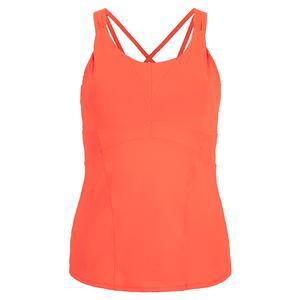Women`s Shock Tennis Cami with Bra Orange Glow