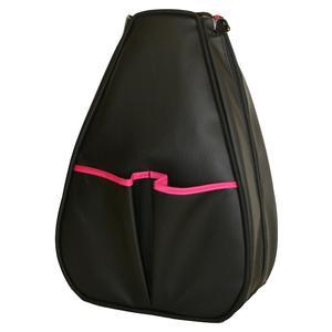 Women`s Sophi Tennis Backpack Black Faux Leather