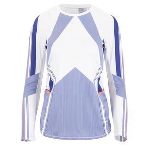 Women`s Long Sleeve Tennis Top Kinetic Stripe