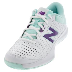 Juniors` 696v4 Tennis Shoes Sour Grape and White Mint