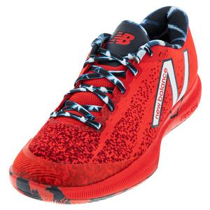 Women`s 996v4.5 B Width Tennis Shoes Red and Navy