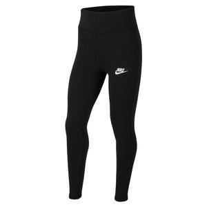 Girls` Sportswear Favorites High-Waisted Leggings Black and White