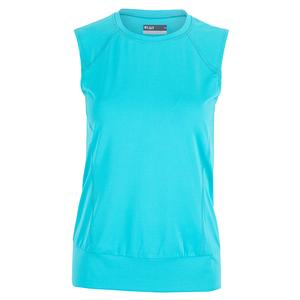 Women`s Crossover Tennis Top Turquoise
