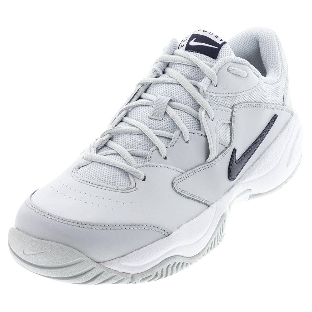 Men's Court Lite 2 Tennis Shoes Pure Platinum And Obsidian
