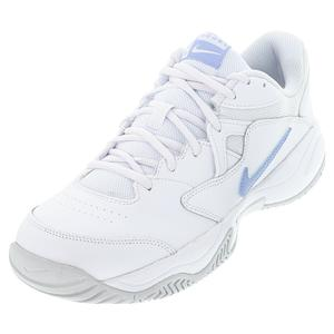 Women`s Court Lite 2 Tennis Shoes White and Aluminum