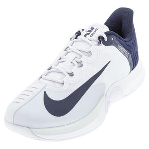 Men`s Air Zoom GP Turbo Tennis Shoes Pure Platinum and Obsidian