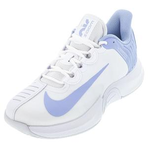 Women`s Air Zoom GP Turbo Tennis Shoes White and Aluminum