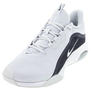 Men`s Court Air Max Volley Tennis Shoes Pure Platinum and White