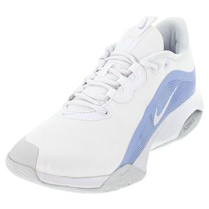 Women`s Court Air Max Volley Tennis Shoes White and Aluminum