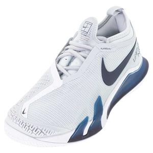 Men`s Court React Vapor NXT Hard Court Tennis Shoes Pure Platinum and Obsidian