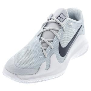 Juniors` Vapor Pro Tennis Shoes Pure Platinum and Obsidian