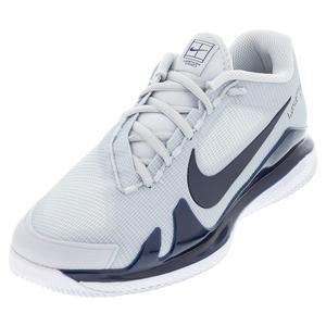 Men`s Air Zoom Vapor Pro Hard Court Tennis Shoes Pure Platinum and Obsidian