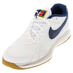 Men`s Air Zoom Vapor Pro Hard Court Tennis Shoes Summit White and Binary Blue