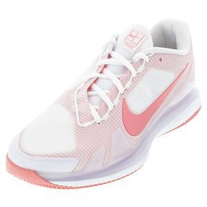 Women`s Air Zoom Vapor Pro Hard Court Tennis Shoes White and Pink Salt