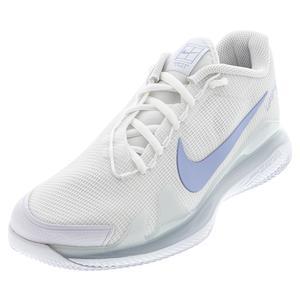 Women`s Air Zoom Vapor Pro Hard Court Tennis Shoes White and Aluminum