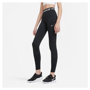Girls` Pro Training Leggings Black and White