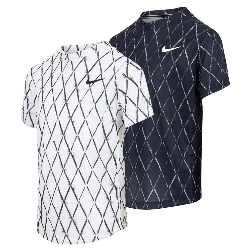 Boys ` Court Dri- Fit Victory Printed Tennis Top
