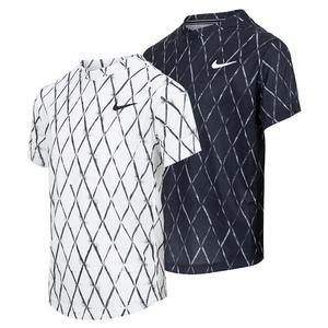 Boys` Court Dri-FIT Victory Printed Tennis Top