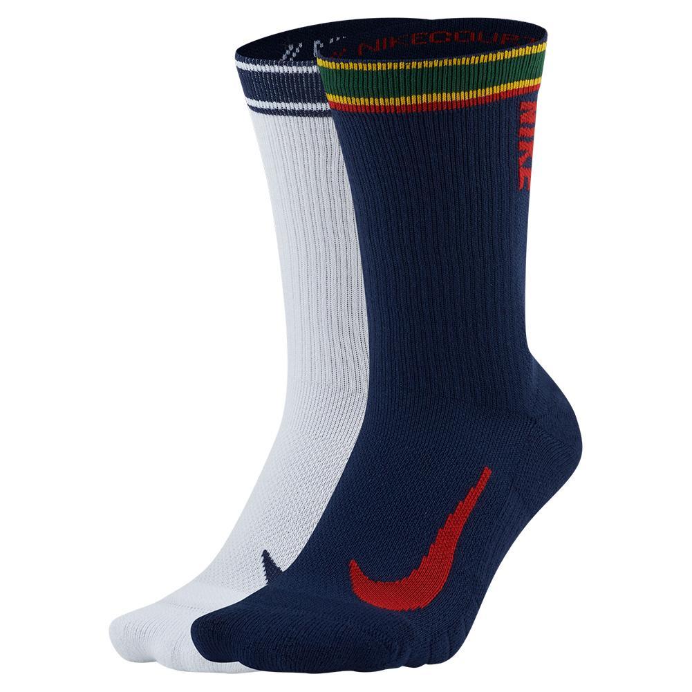 Court Multiplier Max Tennis Crew Socks (2 Pairs) Multi- Color