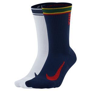 Court Multiplier Max Tennis Crew Socks (2 Pairs) Multi-Color
