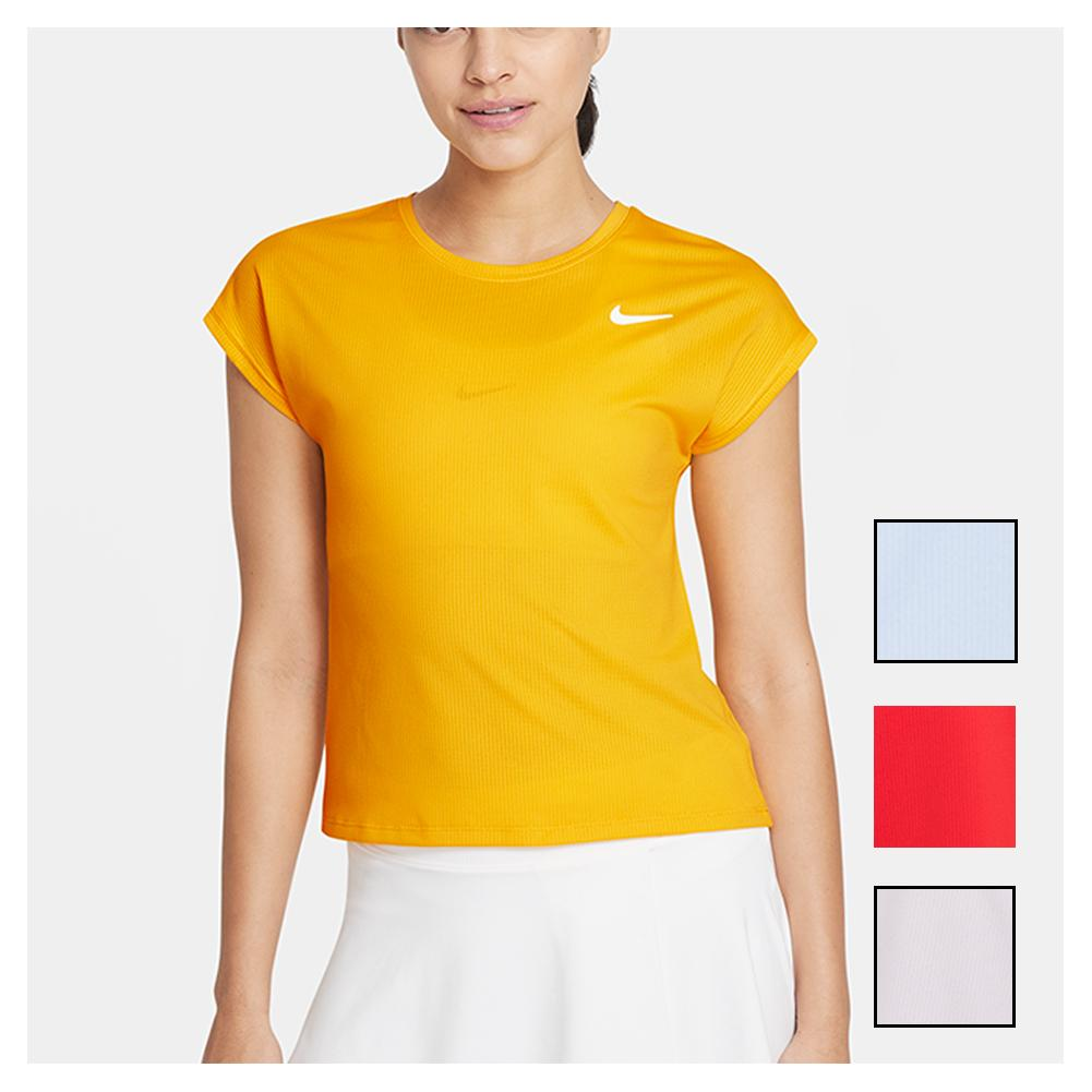 Women's Court Dri- Fit Victory Short- Sleeve Tennis Top Plus Size