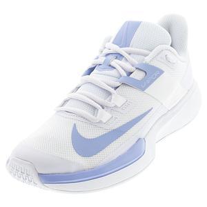 Women`s Vapor Lite Tennis Shoes White and Aluminum