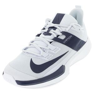 Men`s Vapor Lite Tennis Shoes Pure Platinum and Obsidian