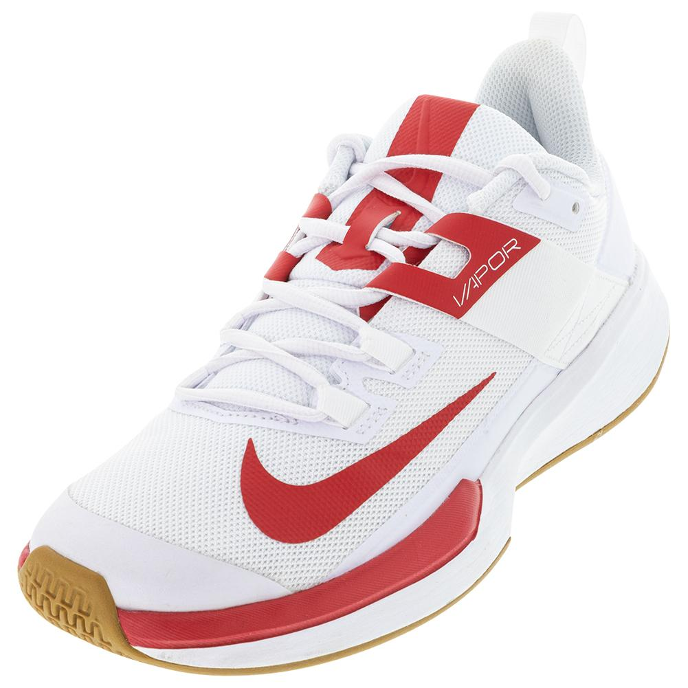 Men's Vapor Lite Tennis Shoes White And University Red