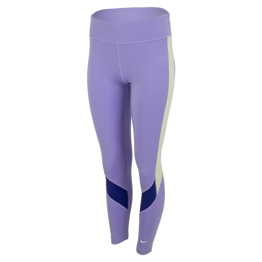 Girls ` Dri- Fit One Training Leggings (Extended Size) Purple Pulse And Lapis