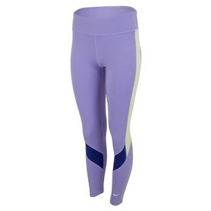 Girls` Dri-FIT One Training Leggings (Extended Size) Purple Pulse and Lapis