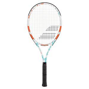 Evoke 102 W Prestrung Tennis Racquet White and Blue