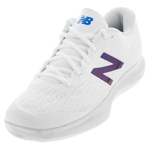 Women`s FuelCell 996v4 B Width Tennis Shoes White and Blue