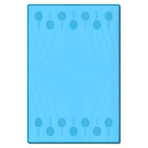 Teal Tennis Racquets Towel