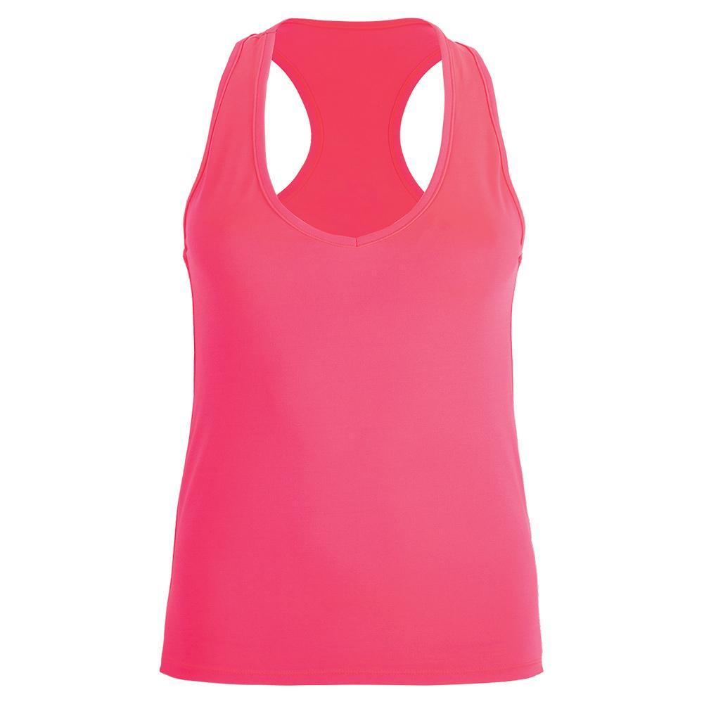 Women's Basic Tennis Tank Fluor Pink