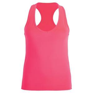 Women`s Basic Tennis Tank Fluor Pink