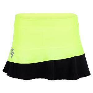 Women`s Boston Tennis Skort Yellow and Black