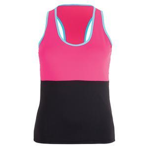 Women`s Barcelona Tennis Tank Pink and Blue
