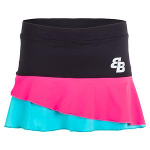 Women`s Barcelona Tennis Skort Pink and Blue