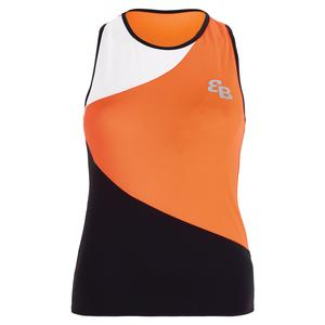 Women`s Berlin Tennis Tank Orange and Black