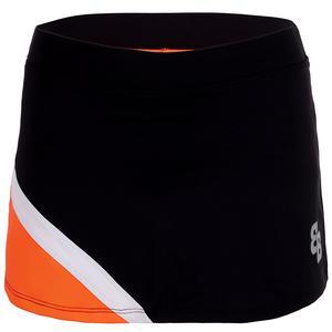 Women`s Berlin Tennis Skort Orange and Black