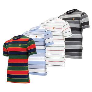 Men`s  Court Emblem Striped Tennis T-Shirt