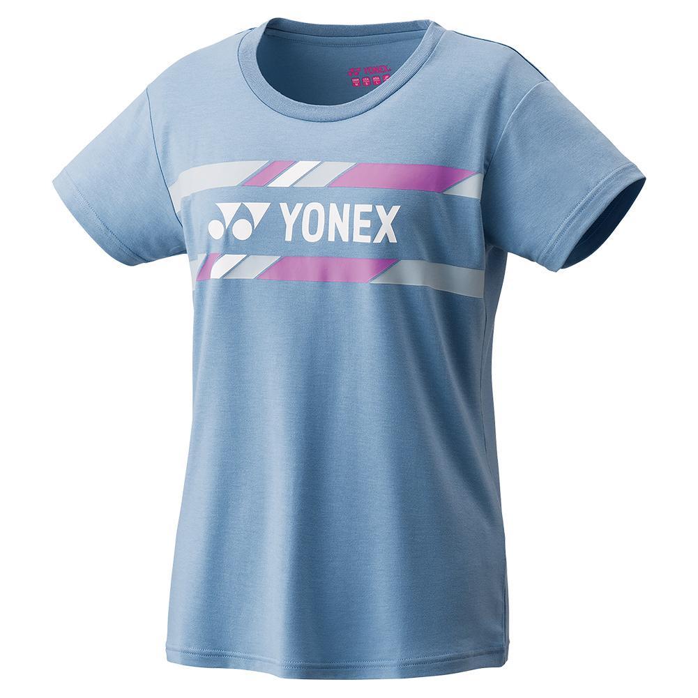 Women's Practice Tennis T- Shirt Mist Blue