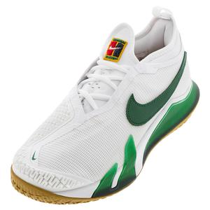 Men`s React Vapor NXT Hard Court Tennis Shoes White and Gorge Green