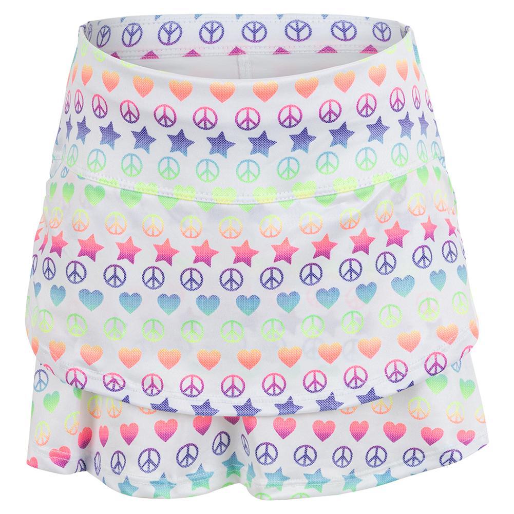 Girls ` Love Everything Tennis Skort With Back Pocket Multicolor
