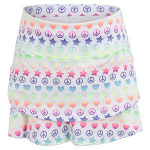 Girls` Love Everything Tennis Skort with Back Pocket Multicolor