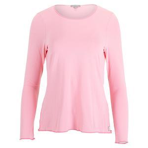 Women`s Sun Protector Tennis Top Light Pink