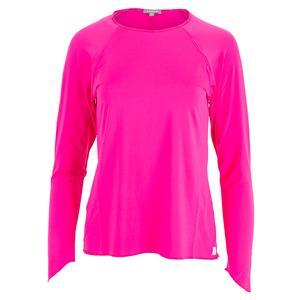 Women`s Sun Protector Extreme Tennis Top Hot Pink