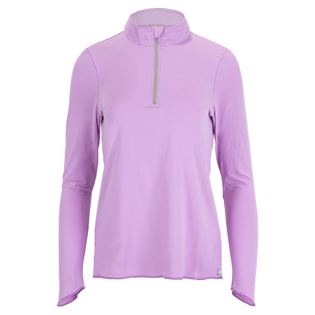 Women's Sun Protector Half Zip Tennis Tunic Lavender