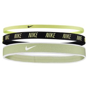 Women`s Mixed Width Headbands 3 Pack Lime Ice and Black