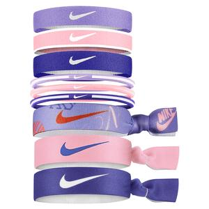 Girls` Mixed Hairbands 9 Pack Printed Purple Pulse and Arctic Punch